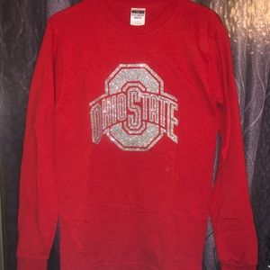 Tops - Long Sleeve Sparkly Ohio State Shirt